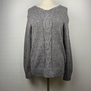 Gap Gray Cableknit Pullover Crewneck Sweater